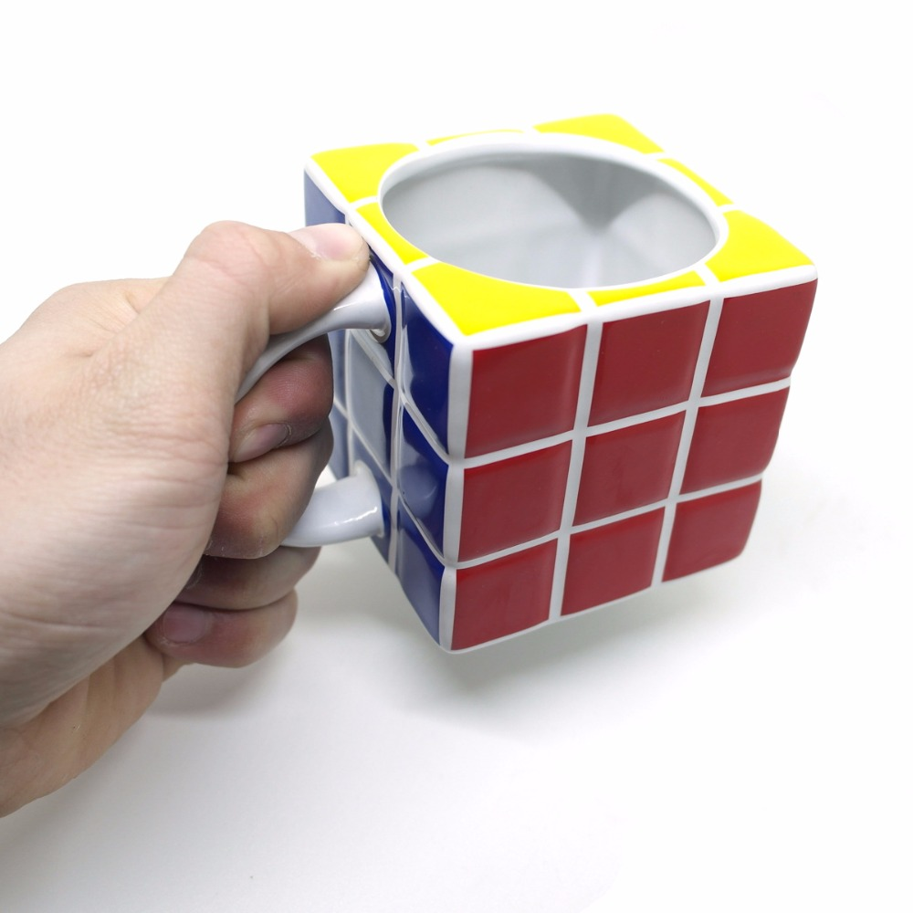 Creative Tetris Cube Mug,Coffee Cup Fashion Ceramic Tea Coffee Mug,Milk Juice Lemon cup Home Office Drinkware Unique Gift