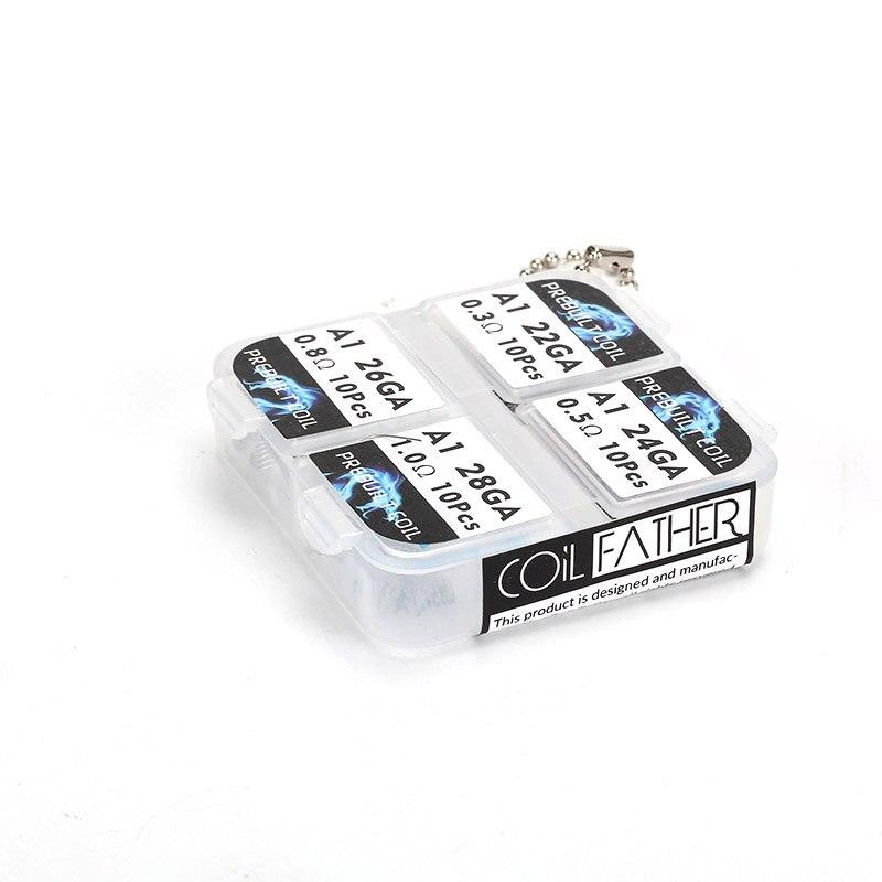 100pcs Electronic Cigarette RDA Atomizer Wick Wire Coil Premade Coil ...