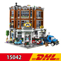 New Style Lepining 15042 2569Pcs City Street View Corner Garage Set Buidling Blocks Bricks Kids Children's Toy Gift Present