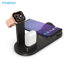 FDGAO Charging Dock For iPhone X XR XS Max 8 7 6 Apple Watch Airpods Charger Holder 10W Fast Charging Mount Stand Dock Station ekind 3 in 1 charging dock holder for iphone x iphone 8 iphone 7 iphone 6 charging dock station for apple watch airpods