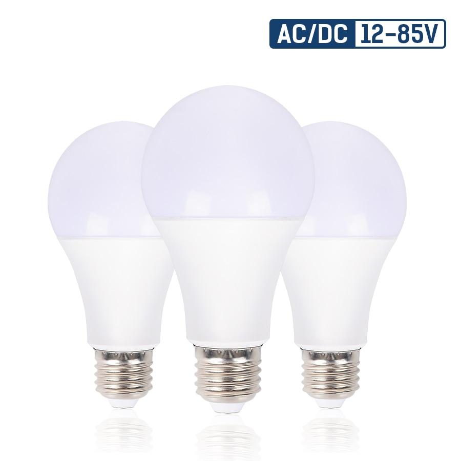 E27 LED Bulb Lamp AC/DC12-85V 5W/9W/15W/20W Energy Saving Lampada Brightness Led Light Bulbs for Outdoor Lighting Bedroom Light