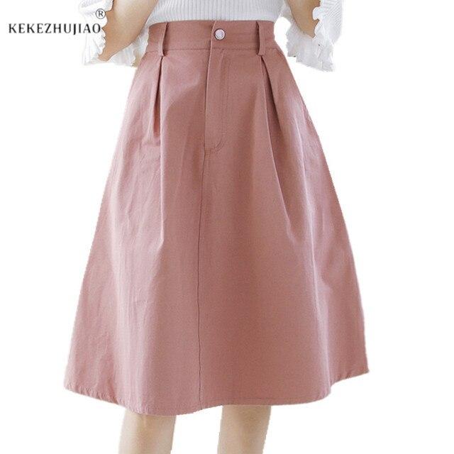 0f758cd279 2018 nuevos estilos de verano blanco de algodón una línea falda para niñas  de la longitud