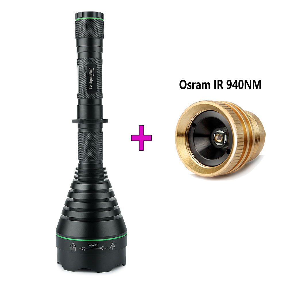UniqueFire Torch 1508-67mm IR 850nm Infrared LED Flashlight With Drop-in 940nm Led Pill Perfect Design For Hunting At Night new product for hunting uniquefire black flashlight 1508 67mm 940nm ir led torch for outdoor night hunting free shipping