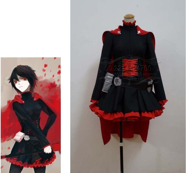 Red Trailer Of Rwby Ruby Rose Cosplay Costume Any Size Customize On