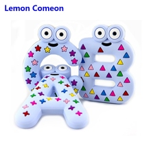 Lemon Comeon 5PCS Silicone Letters Alphabet Baby Teether Molar Biting Lear Early Learning Puzzle Childrens Toys