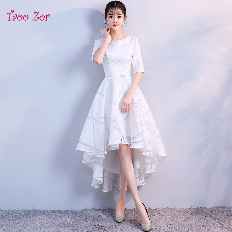 Taoozor Elegant Cut Out Tulle Cocktail Dresses 2018 Scoop Formal
