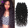 Cheap 8A Mink Peruvian Water Wave Peruvian Virgin Hair Ocean Wave 3pcs Lot Peruvian Curly Wet and Wavy Human Hair Bundles 1b