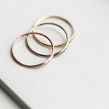 Elegant Gold Silver Rose Gold Color Thin Rings for Women Jewelry Wedding Engagement Zircon Ring Gifts new fashion multilayer double color women rings plated rose gold color zircon rings jewelry for women wedding accessories gifts
