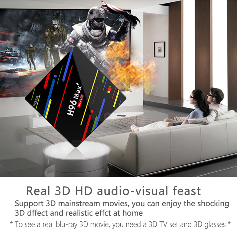 H96 MAX Plus ATV TV Box Android 9 0 Smart Set Top Box with voice remote control RK3328 4GB 64GB 5G Wifi 4K H 265 Media player in Set top Boxes from Consumer Electronics