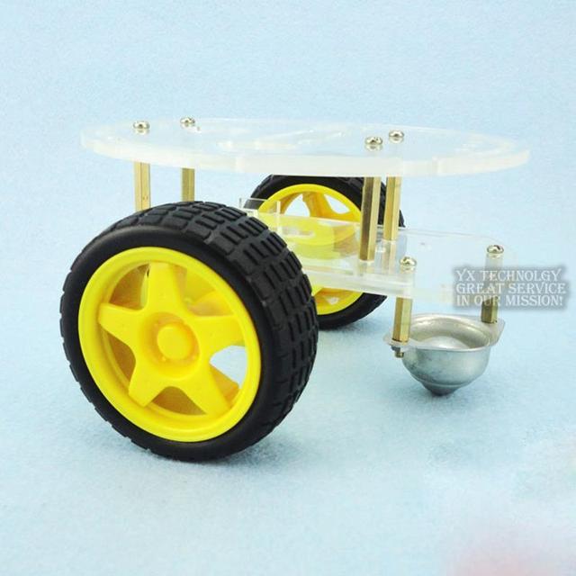 Умный автомобиль шасси база избегание отслеживания rover двойной два привода три Колеса Акриловые Мини