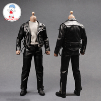 1/6 Scale Male Suit Leather Trench Coat Vest Shirt Pants Set for 12 inches Action Figure Dolls Accessories Clothes Model