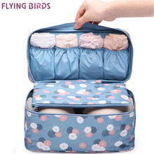 FLYING BIRDS! NEW Arrival Travel Storage Bag Cosmetic bag case Wash Bra Sorting Organizer Bags Waterproof makeup Bags LM3529fb