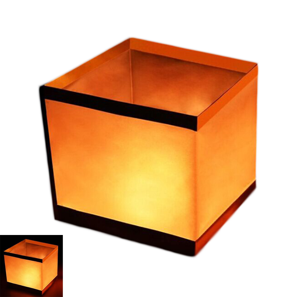 US $0 9 9% OFF|HOT Floating Water Square Lantern Paper Lanterns Wishing  lights floating Candle For Party Birthday wedding Decoration-in Lanterns  from