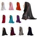 2017 мода мусульманские короткие шарф хиджаб шаль Высокого Качества Хиджаб Hat Женщины Шапки Мусульманин Тюрбан Оголовье мусульманский Шарф Исламский шарф