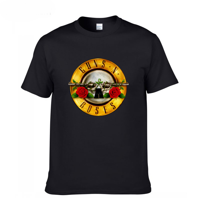 New Guns And Roses Guns N Roses Hard Rock Band Men'S Black T-Shirt Size S-3XL image