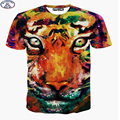 Mr.1991 brand kids t-shirt for boy or girls Colorful tiger printed 3D t shirt teens hip-hop tops tee big kids clothes A28