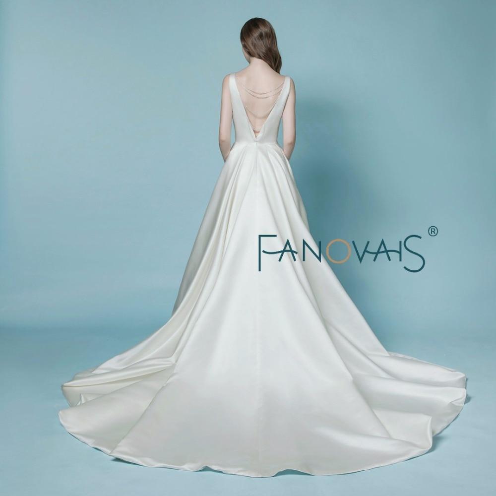 Satin Wedding Dress 2018 vestido de noiva simples gelinlik Simple ...