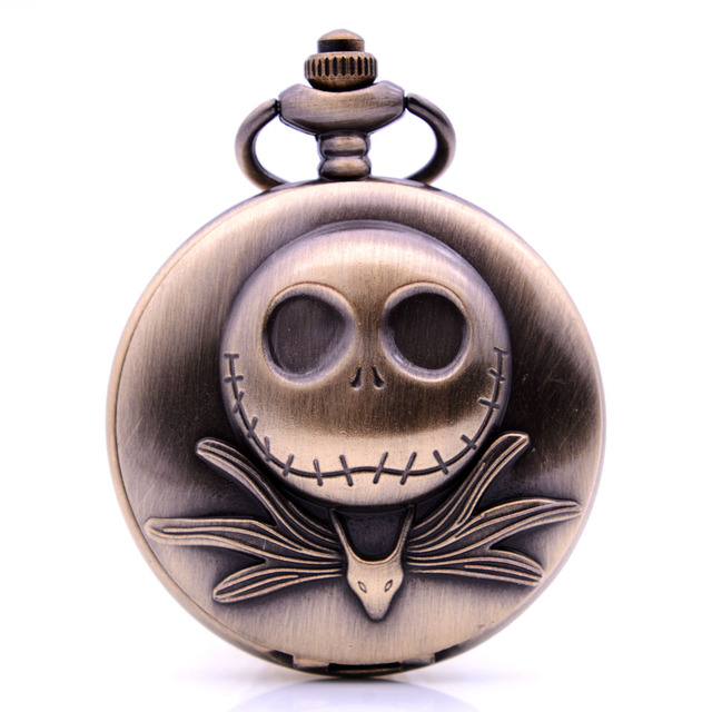 New Dropshipping The Nightmare Before Christmas 3D Jack Quartz Pocket Watch Anal