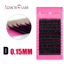Arison New Arrivals individual mink eyelash extension 0.15mm Dcurl mix length one set eyelash extensions for salon free shipping