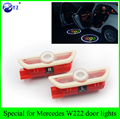 1 Pair car styling for Mercedes Benz S Class W222 S400 S500 S550 S600 S63 S65 LED car door welcome lights Logo Projector