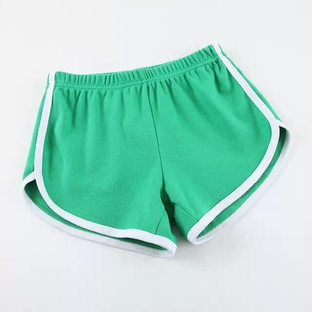 Карамельный цвет ретро пикантные стрейч шорты для женщин женские 13 цветов повседневные свободные пляжные Hotpants - Цвет: Зеленый