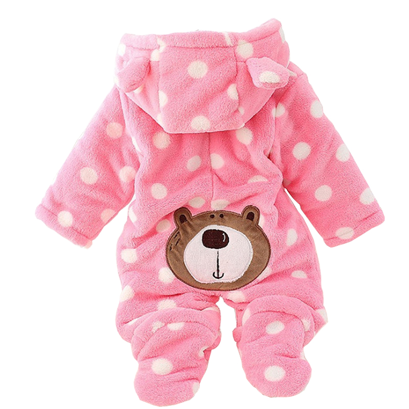 2018 Autumn Baby Rompers Cotton Padded Thick Newborn Baby Girl Warm Jumpsuit Autumn ropa ...