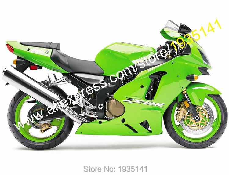Hot Sales,For Kawasaki Ninja ZX12R 2002 2003 2004 ZX-12R 02 03 04 ZX 12R All Green ABS Bodyworks Fairing Kit (Injection molding) yellow flames zx 6r 2003 2004 fairings for kawasaki ninja zx6r 03 04 injection fairing kit 100%fit k29