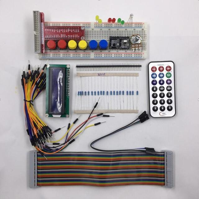 Raspberry PI Kit Breadboard 1602 LCD GPIO Adapter Cable LED Sensor
