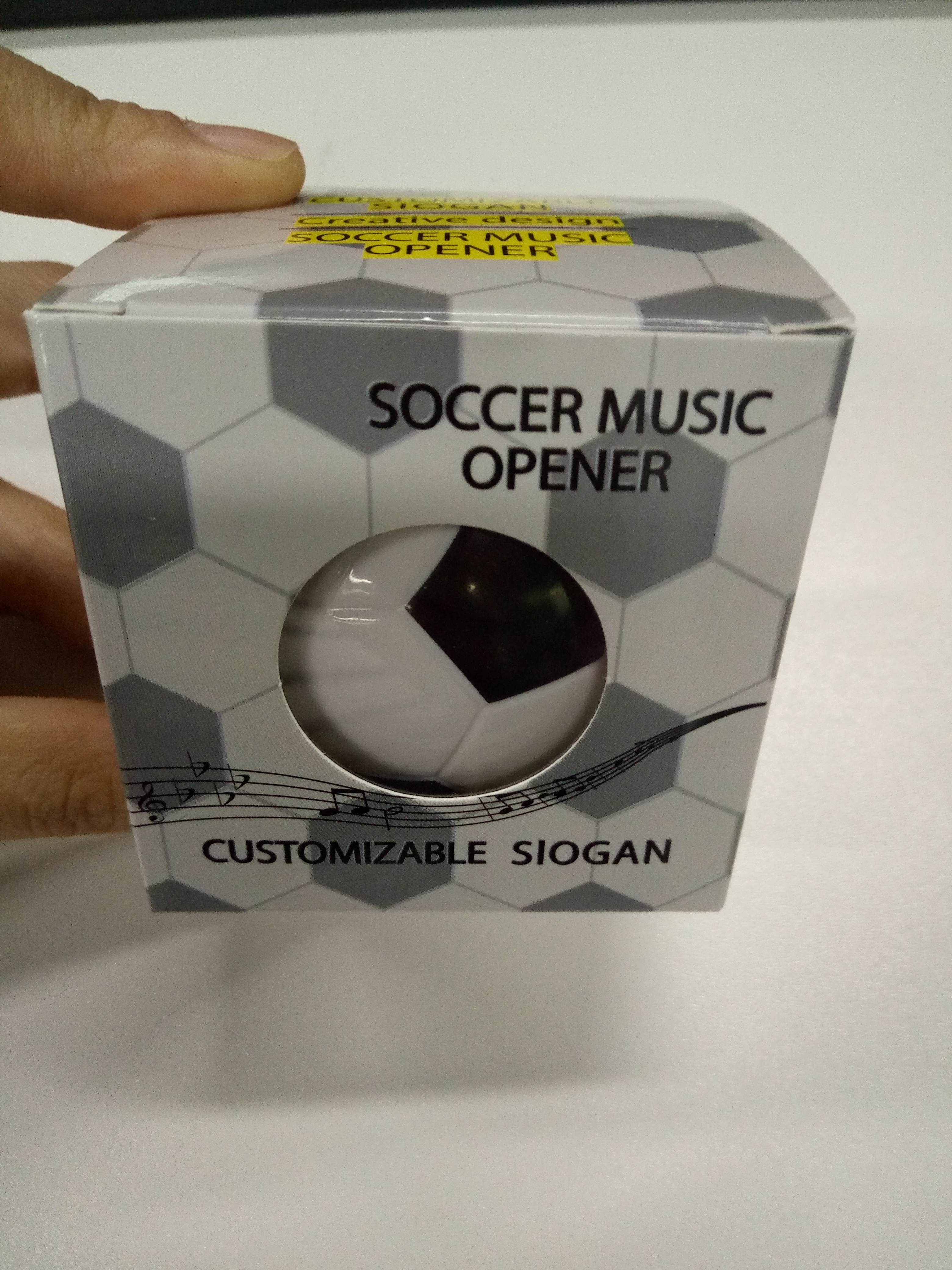 2pcs/Lot,New Summer Classic Soccer Music Opener For World Cup  Full Stock Talking Bear Magnet Opener For Home Decoration