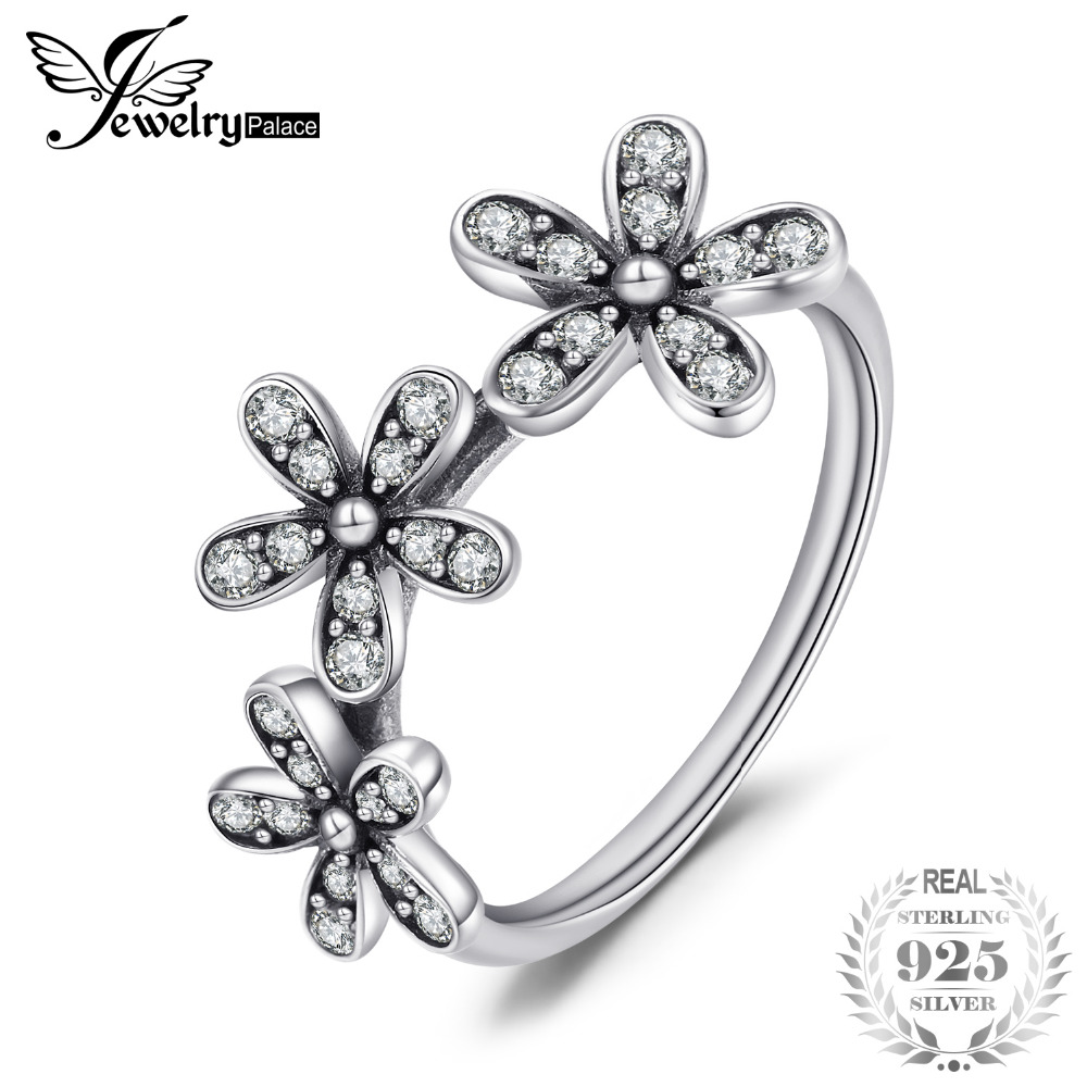 Jewelrypalace 925 Sterling Silver Shimmering Daisies Cubic Zirconia Ring Gifts For Women Anniversary Gifts Fashion JewelryJewelrypalace 925 Sterling Silver Shimmering Daisies Cubic Zirconia Ring Gifts For Women Anniversary Gifts Fashion Jewelry