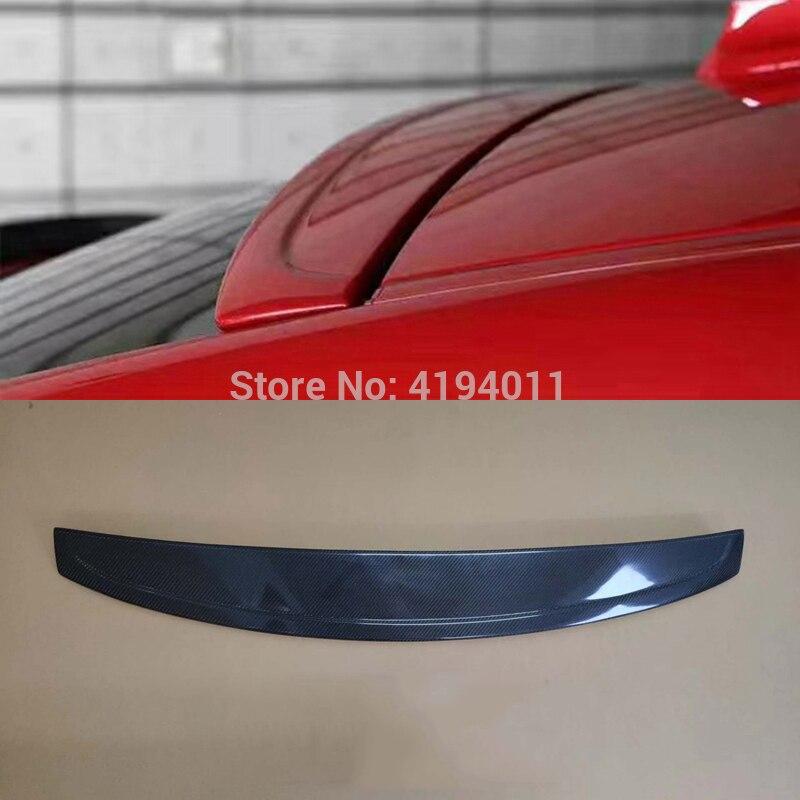 MONTFORD Auto Partie Carbone fibre Arrière Toit spoiler à lèvre Queue Tronc Boot Wing Couverture accessoires de voiture Pour BMW F26 X4 2015 2016