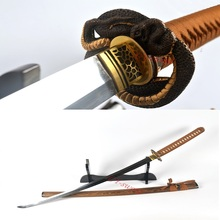 Clay Tempered T10 Steel Full Tang Sharp Python Tsuba Japanese Samurai Sword Katana