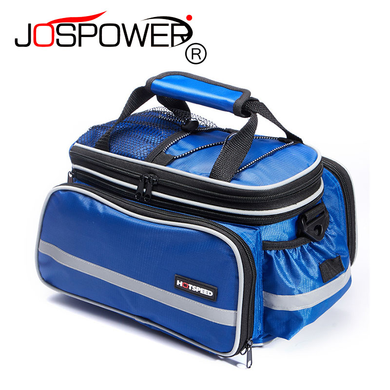 JOSPOWER Cycling Bicycle Bag Bike Tail <font><b>Seat</b></font> Trunk Bag Practical Extended Spcae Bags With <font><b>Rain</b></font> Cover Cycling Traveling Bag 10-25L