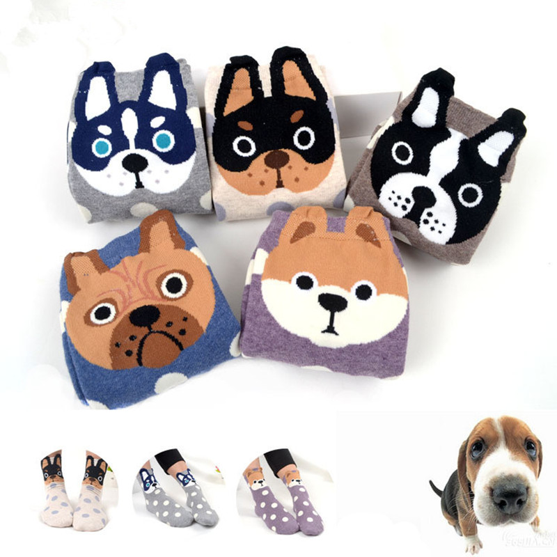 High Quality Short Cute Funny Sock Calcetines Anime Lovely Dogs Sokken Harajuku For Women Lady Girl  Art Socks Ankle Meias Sox