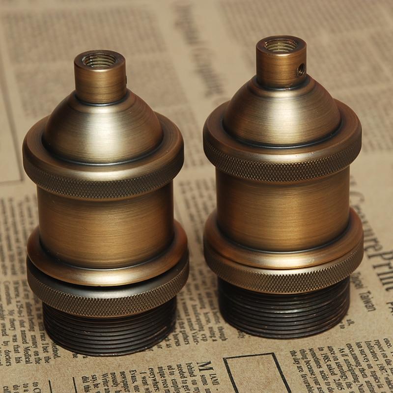 Vintage Lamp Bases E26e27 Edison Screw Bulb Socket Cover Chandelier