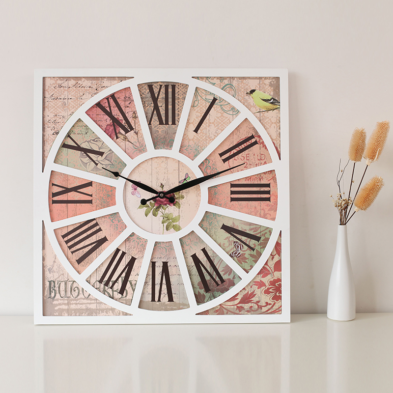 Mercure momento europa madera de grado creativo reloj de for Relojes decorativos para salon