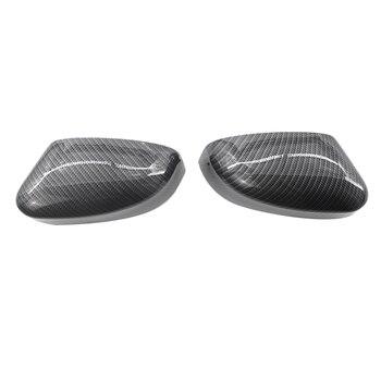 1 пара зеркальных чехлов из углеродного волокна, крышка зеркала заднего вида влево и вправо, крышка бокового зеркала для Ford Focus 2012-2018