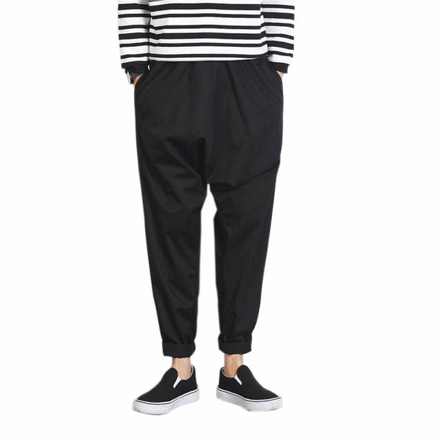 Calças dos homens 2016 Novos Homens de Moda Harem Pants calça Casual Hip Hop Calça masculina Outono & Primavera Calças Soltas Para O Sexo Masculino, Plus Size 5XL