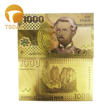 Home Decoration Chile 1000 Pesos Color Gold Banknote NEW Foil Souvenir Goldden Waterproof Banknotes
