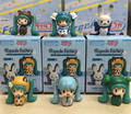 Manufacturer 50set (6pcs/set) Japana anime Q version Hatsune Miku pvc figure toy tall 4cm in box via DHl/EMS.