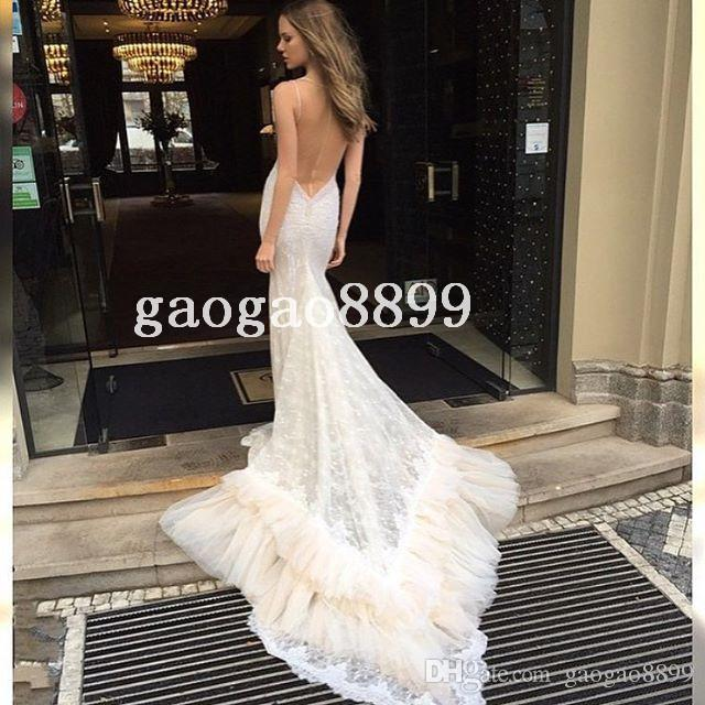 c42a5cb20bade Berta Bridal 2016 Spring Lace Tulle Mermaid Wedding Dresses Sexy Custom  Make Chapel Train Backless Trumpet Wedding Gown on Aliexpress.com | Alibaba  Group