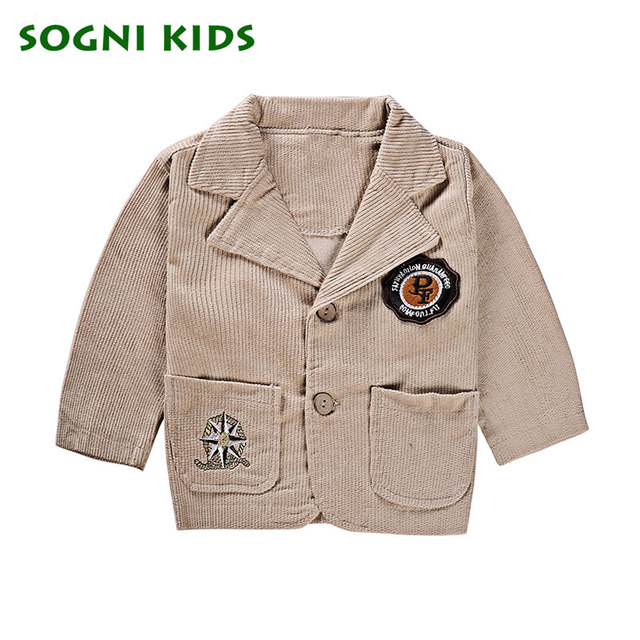 Boys clothing set coat+T-shirt+pant three pieces long-sleeved kid cotton suit for boys spring clothes good quality