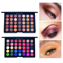 35 Colors Pearl Matte Eyeshadow Orange Color Earth Tray Mix Is Not Easy To Remove Makeup