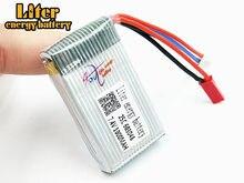 7.4 V 1000 mAH Lipo Bateria Para MJXRC X600 F46 X601H JXD391V aeronave 7.4 V 1000 mAH Lipo 2 S bateria 7.4 plugue JST 603048 25C