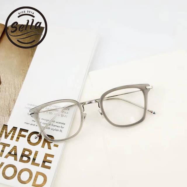 61f3545c6a Sella Korean Style Fashion Women Men Retro Round Glasses Frame Trending  Ladies Clear Lens Alloy Eyewear