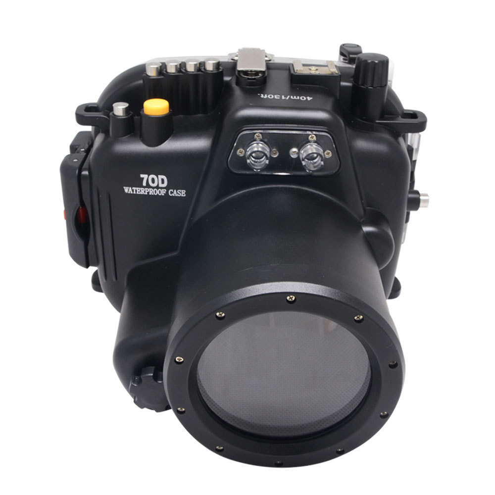 Mcoplus 40M 130ft Waterproof Underwater Camera Housing Case for Canon EOS 70D 18-135mm Lens