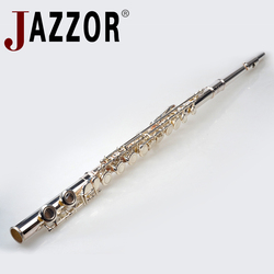 High quality Flute JAZZOR JYFL-E100S Professional Silver Plated Flute C tone student flute 16 open hole flauta wind instrument