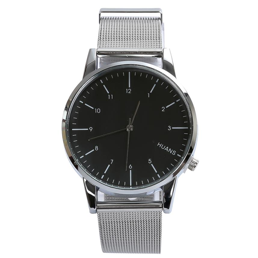 Fashion Men Watches Top Selling Luxury Quartz Clock Sport Military Stainless Steel Dial Alloy Mesh Band Wrist Watch Men Aug17 relojes mujer 2016 fashion alloy band stainless steel case sport military quartz wrist square men s watch relogio feminino