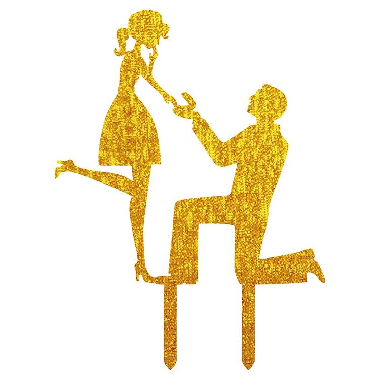 1pc acrilic se căsătorească cu mine Tort Flag Topper Mr & Mrs Cake Steaguri pentru nunta aniversare Party Decor Tort Hot Vanzare