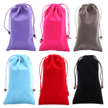 6 PCS/lot Universal Cotton Neck Strap Sleeve Phone Pouch Bag Case Cover for Below 6.3 inch Mobile Phones for Samsung/iPhone/LG